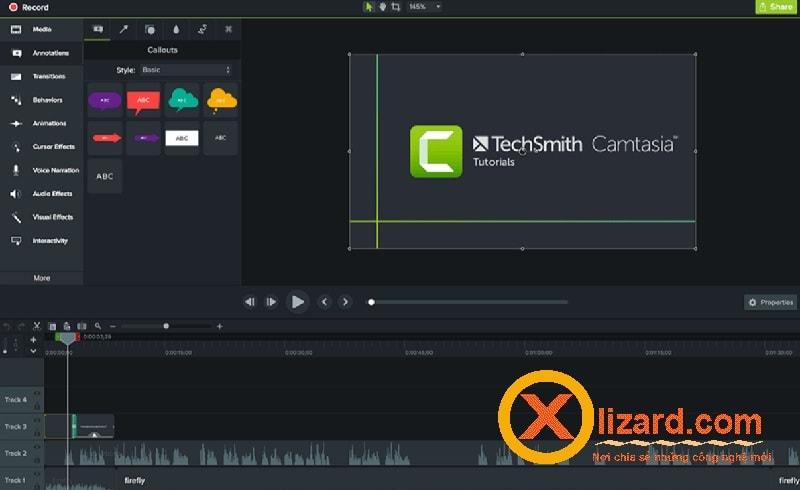 Phần mềm Camtasia Studio