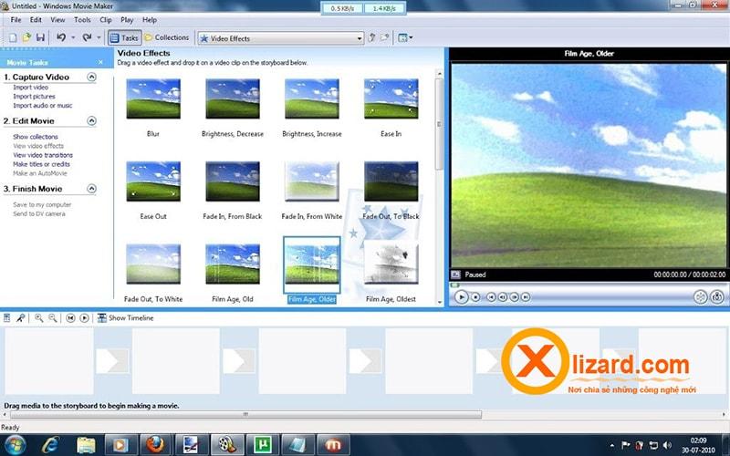 phần mềm Window Movie Maker