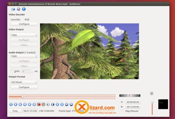 Phần mềm avidemux